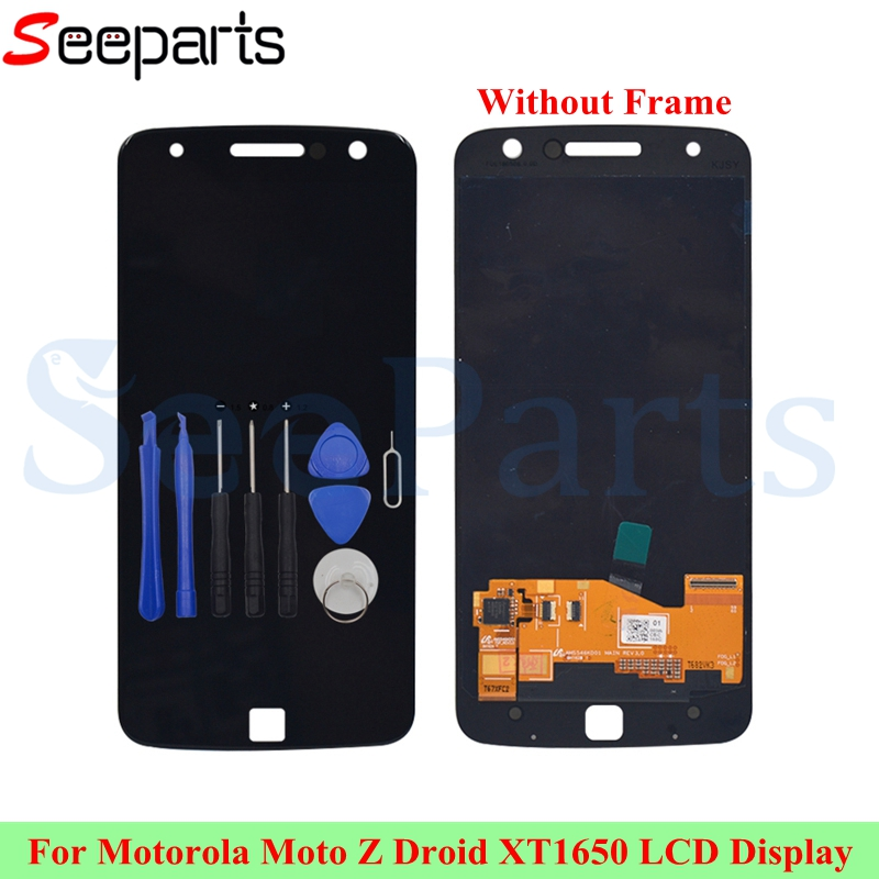<font><b>LCD</b></font> Display For Motorola Moto Z Droid <font><b>XT1650</b></font> <font><b>LCD</b></font> Display Touch Screen Digitizer Assembly Replacement Parts 5.5