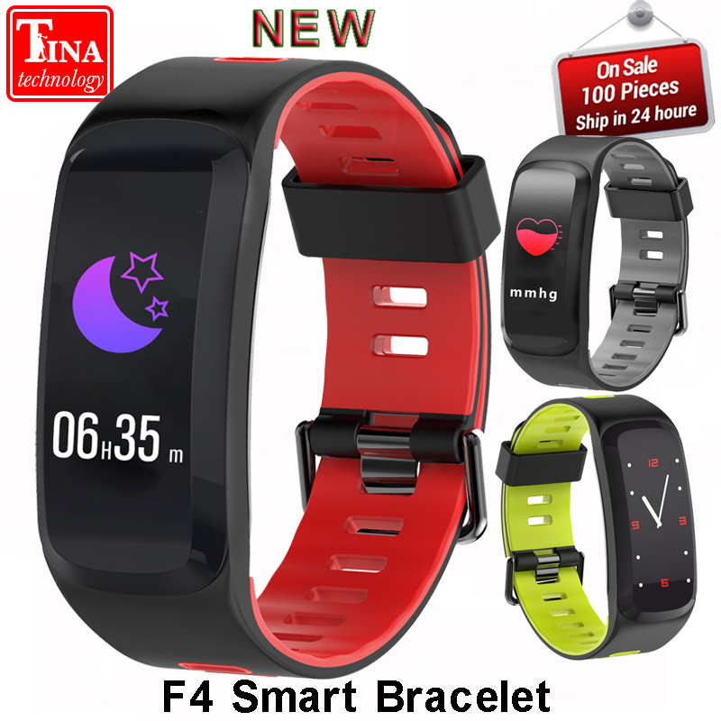 F4 Smart Fitness Bracelet Blood Oxygen Heart Rate Monitor Blood Pressure IP67 Smart band Sleeping Tracker For IOS Android