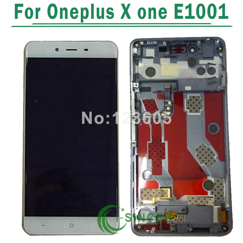 Black/White lcd display+touch panel digitizer with frame For oneplus X one E1001 free shipping lcd screen display touch panel digitizer with frame for htc one m9 black or silver or gold free shipping