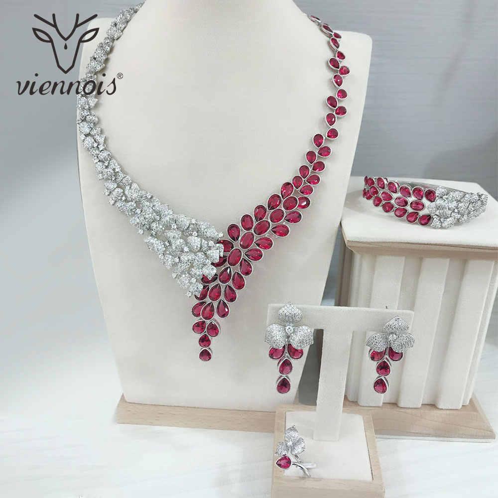 Viennois MIX GOLD/เงินต่างหูสตั๊ดสี Hollow บิ๊กชุดเครื่องประดับสำหรับผู้หญิงชุดเครื่องประดับงานแต่งงานใหม่