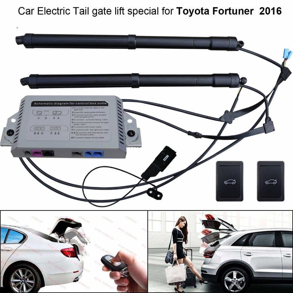 Smart Auto Electric Tail Gate Lift For Toyota Fortuner 2016 2018 Wiring Harness Diagram Car Accessories Special With Latch Easily