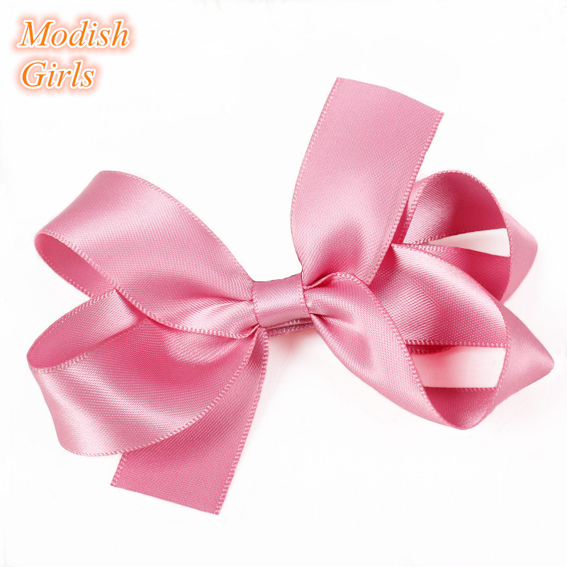 Perfect Pink Bowknot Design Beautiful Hair Clips New Children Hair Clips for Modern Stars Baby Trendy Hairpins Hair Accessores