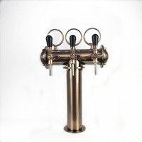 T shape bronze beer tower with bronze tap