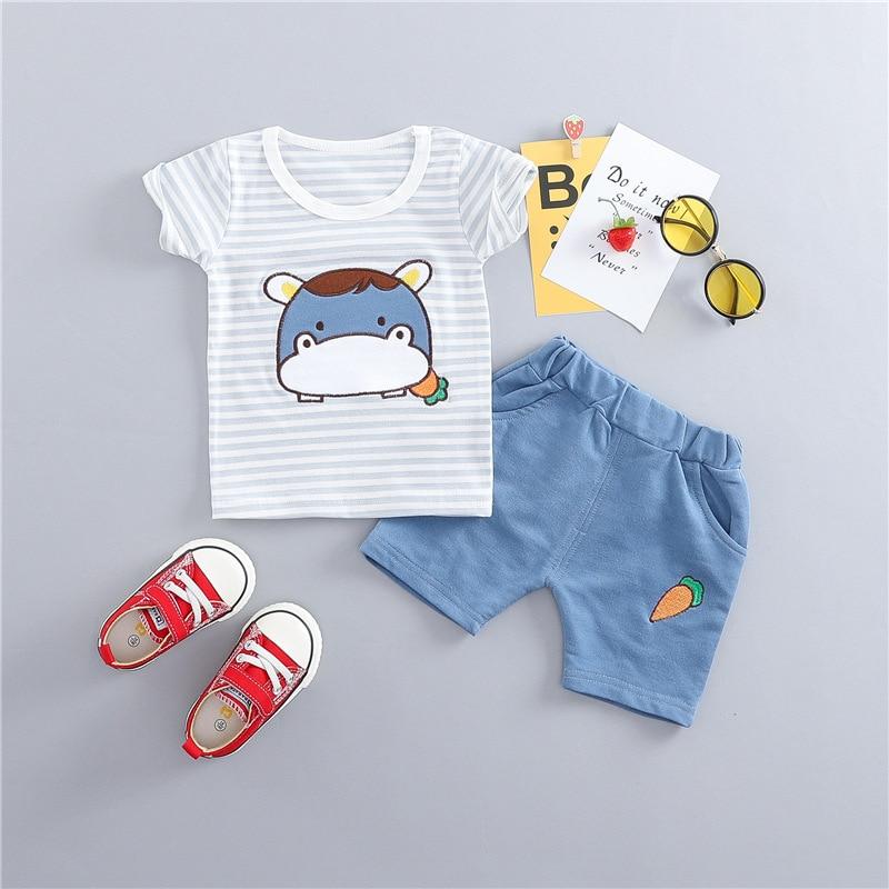 New Summer Baby Boys riided puuvillased särgid + püksid Rõivaste - Beebiriided - Foto 2
