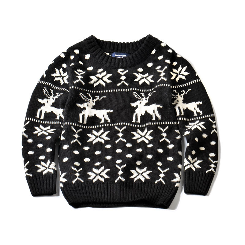Santa Baby Children Knit Sweaters Leisure Cotton Quality Boys And Girls  Fawn Design Sweater Kids Winter