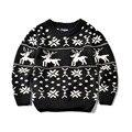 Santa Baby Niños Knit Suéteres de Ocio de Algodón Chicos Y Chicas de Calidad Diseño Cervatillo Suéter Niños Suéter de Invierno