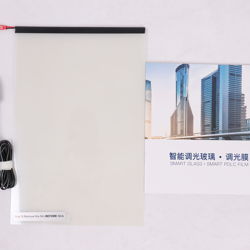 210*297mm échantillon électronique PDLC voiture Film intelligent PDLC commutable Film intelligent électrique Film en verre intelligent pour fenêtre latérale de voiture