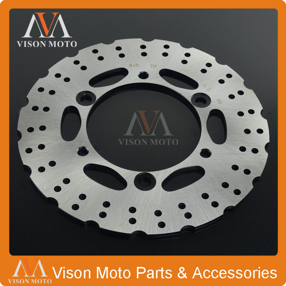 Motorcycle Rear Brake Disc Rotor For KAWASAKI NINJA250 NINJA300 NINJA 250 300 2013 2014 2015 13 14 15 for kawasaki ninja 250 ninja250 2008 2015 ninja 300 ninja300 2013 2015 motorcycle aluminum short brake clutch levers black