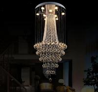 simple modern Double staircase long villa staircase chandelier living room restaurant crystal chandelier hall lamp SJ14 ya74