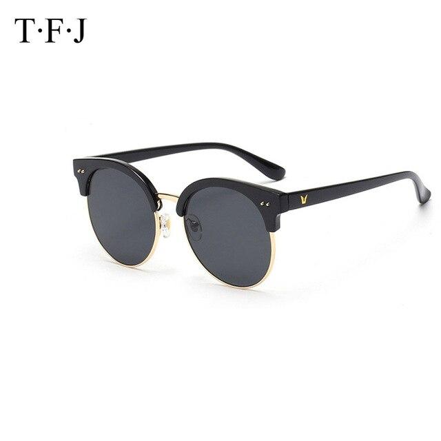 7a56effdd0f731 Oversized Ronde Metalen Frame Vogue Zonnebril 5 Kleuren Lens HD Brillen  Anti Glare Ultraviolet Preventie Goggle