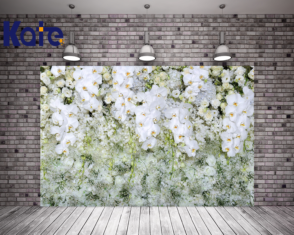 Kate Digital Printing Flowers Backdrops For Wedding Foto Background White Flowers Wall Photography Studio Backdrop сумка kate spade new york wkru2816 kate spade hanna