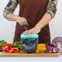 Hand Pull Food Processor Manual Food Chopper for Fruit Vegetable Meat Portable Medium Blender