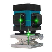 3D Green Beam Self-leveling Laser Level Horizontal Vertical Alignment Tool for Line Measure as Construction Tools