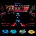 Universal 10 Cores 2.3mm 3 M de fixação-edge/duas emendas de Fio EL Flexível Neon Car Decorar com DC12V Controlador Frete grátis