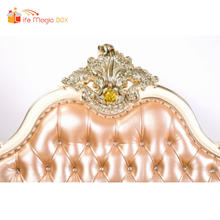 LIFE MAGIC BOX Bed Headboard Photographie Rose Golden Color Backdrops Photographic Film for Kids Backgrounds(China)