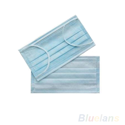 50pcs 4 Layer Non Woven Anti-Dust Disposable Surgical Medical Dental Salon Face Earloop Face Protective Mouth Cover Masks Blue 50 pcs bag disposable masks industry non woven pm2 5 dust mask male and female generic blue hanging ear type protective masks