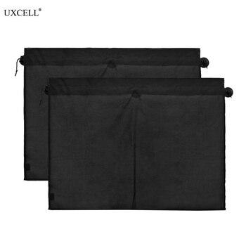 2 cortinas Uxcell de 70x53cm para ventana lateral de coche, protección solar UV, cubierta para parabrisas con succión
