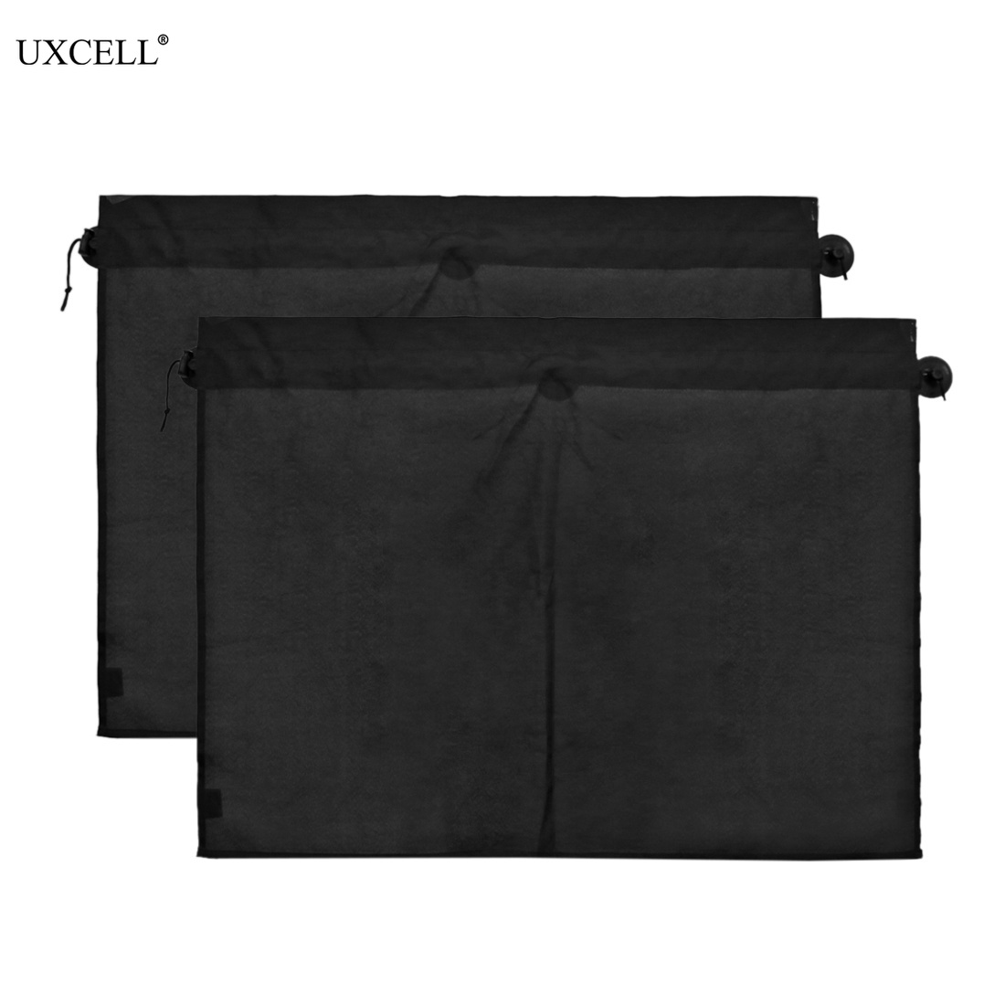 Uxcell 2 Pcs 70 x 53cm Car Side Window Curtain Sunshades Sun UV Protection Windscreen Cover with Suction