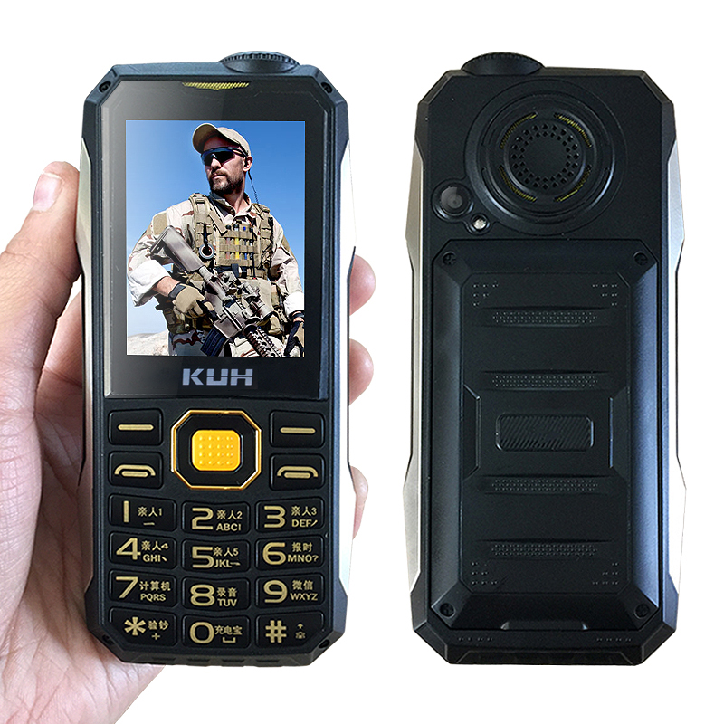 Shockproof dustproof big sound <font><b>power</b></font> bank bluetooth whatsapp Internet service flashlight FM rugged outdoor mobile phone P004