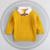 12 M-4 T niñas suéteres bebé clothesTurn-abajo suéter niños jersey de punto outwear suéter suéter de los niños
