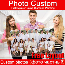 HOMFUN,Photo Custom,Diamond Embroidery,DIY,5D,Private Custom,Diamond Painting,Cross Stitch,3D,Diamond 5D,Decoration,Gift