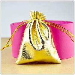 Низкая стоимость! Новые модные 500 шт./лот 13*18 см золотой атласной Ткань Сумки Чехлы со шнурком для ювелирных изделий Подарочная Упаковка