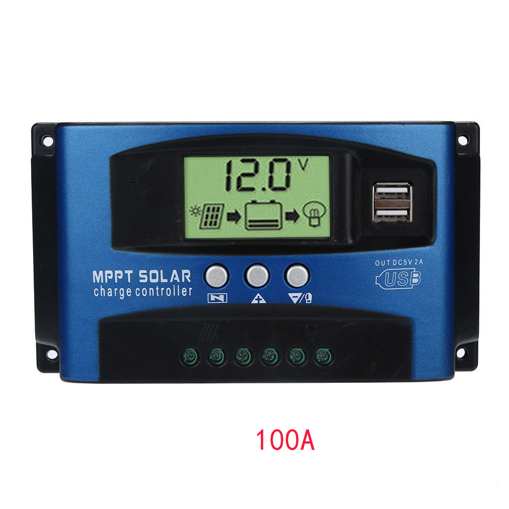 Panel Solar Controllers Home Automatic  Regulator Equipment Charge Tracking Protect Battery LCD Display MPPTPanel Solar Controllers Home Automatic  Regulator Equipment Charge Tracking Protect Battery LCD Display MPPT