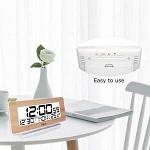 Image 4 - FanJu FJ3523 デジタルアラーム時計 LED 電子 12 H/24 960h アラームとスヌーズ機能温度計バックライトデスクトップテーブル時計