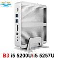 Partaker b3 de negocios mini pc sin ventilador de ordenador con $ number ° $ number ª generación intel core i5 4258u 4278u 5200u 5250u procesador