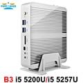 Partaker b3 negócios mini pc fanless computador com 4o gen intel core i5 4258u 4278u 5200u 5250u processador