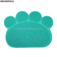 MEVSDPOCA PVC Cat Foot pad car Contained Supplies dog Placemat Pet Supplies