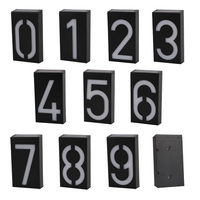 New Arrival Solar Power Number LED Light Sign House Hotel Door Address Plaque Mailbox Digit Plate