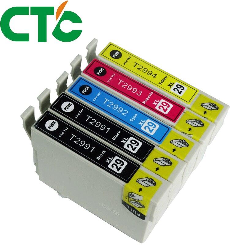 5 Pack T2991 T2992 T2993 Ink Cartridges Compatible for Epson XP-235 XP-332 XP-335 X-P432 XP-435 XP-247 XP-442 XP-342 XP-345