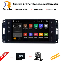 FOR JEEP PATRIOT LIBERTY Android 7 11 Car DVD Player Quad Core 2G RAM 1080P 4G