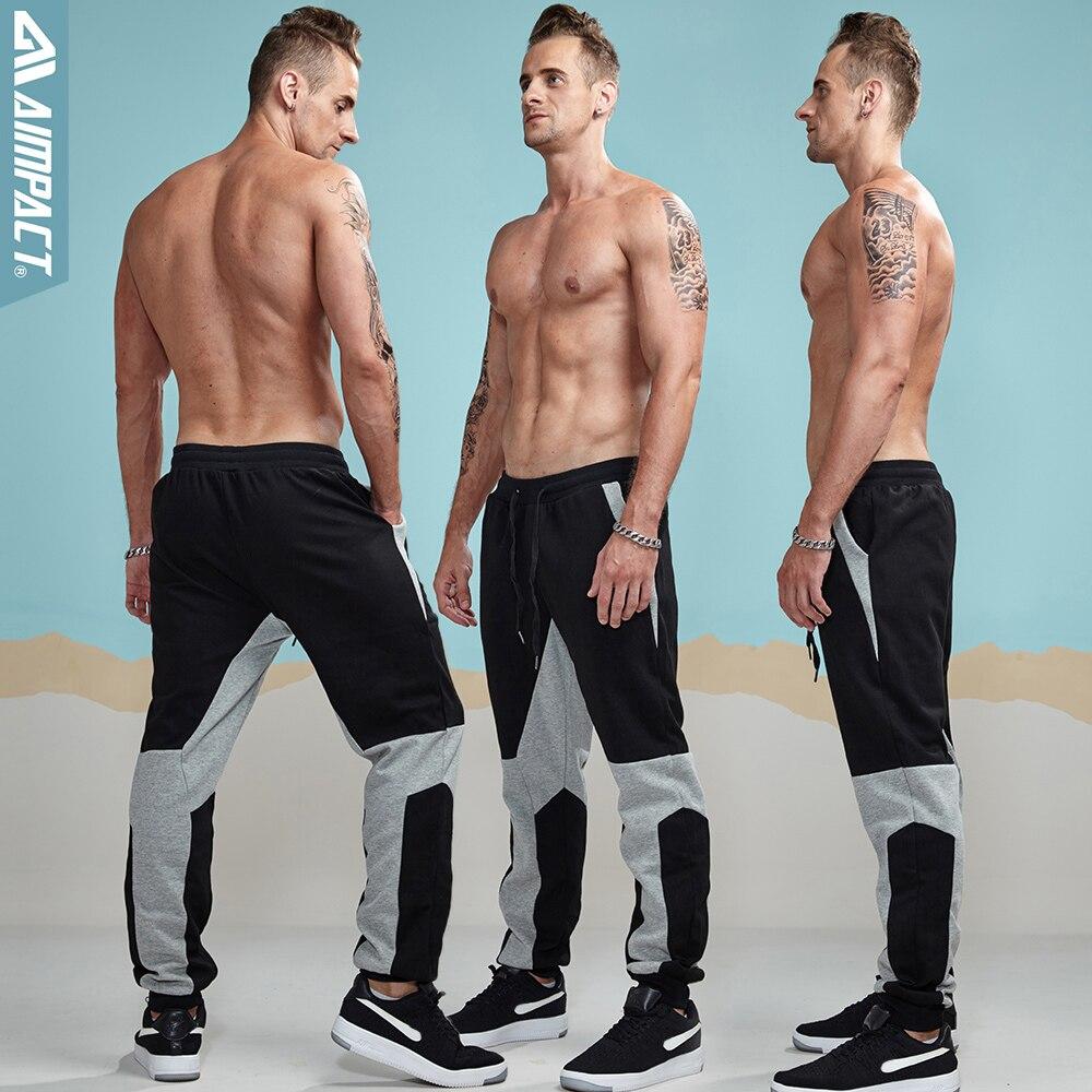 Aimpact 2017 New Autumn Men Cotton Casual Sweatpants Elastic Waist Lengthened Section Sweatpants Men Occident Retro AM5004