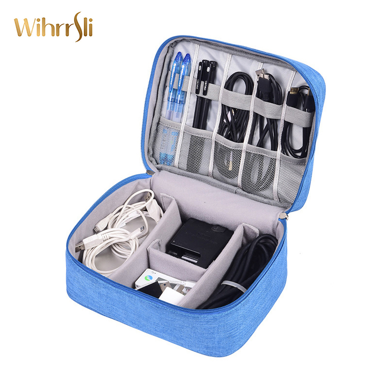 Travel Accessories Data Pack Organizer Digital Package Storage Box Headset Data Line USB SD Card Cell Protection Men's Big Bag