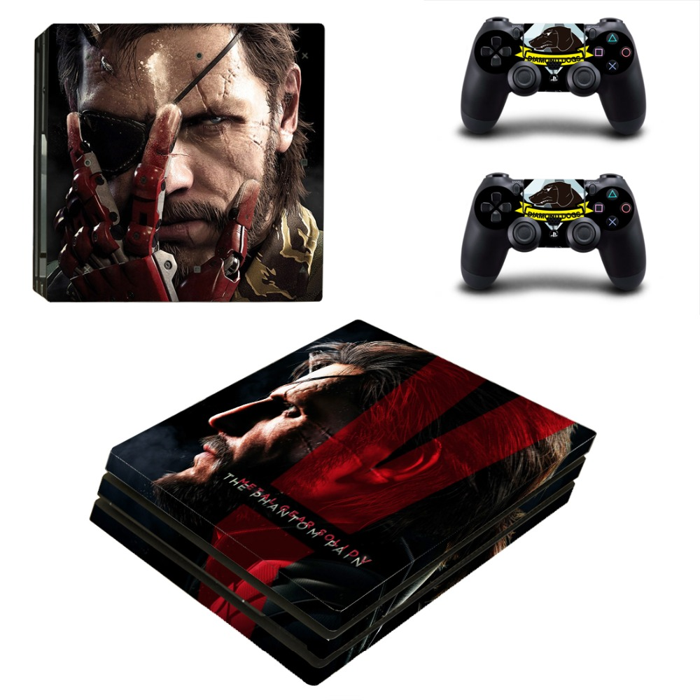 Metal Gear Solid Vinyl Protective Skin Sticker for Playstation 4 Pro Cover Sticker for PS4 Pro Console+2 Controller Skins