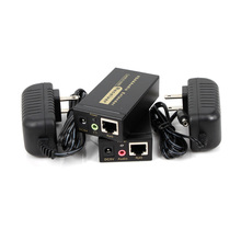 New VGA Extender via cat5e/6 cable up to 100M with power adapter Support High Definition 1920×1440 for Monitor Projector