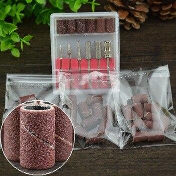 "6pcs/Set Professional Nail Art Drill Bits+10 PCS Nail Drill 80""120""180"" Sanding Band Machine Replacement Bits Pedicure Tools Set"