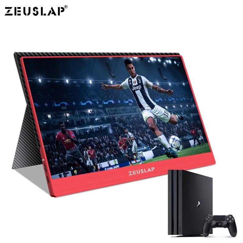 Image 5 - ZEUSLAP 1920x1080P przełącznik CCTV FULL HD MACBOOK DESKTOP PS4 przenośny monitor XBOX ONEMonitory LCD   -