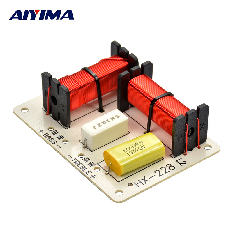 AIYIMA 2Way HiFi Audio Speakers Frequency Divider Stereo Crossover Filters DIY Audio Car Speaker DIY For Home Theater