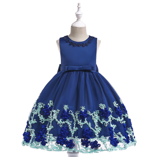 277bb45192f 2018 Girl Floral Birthday Dresses For Girls Party Princess Baby Girl Summer  Dresses Kids Clothes Children Ball Gown Vestidos