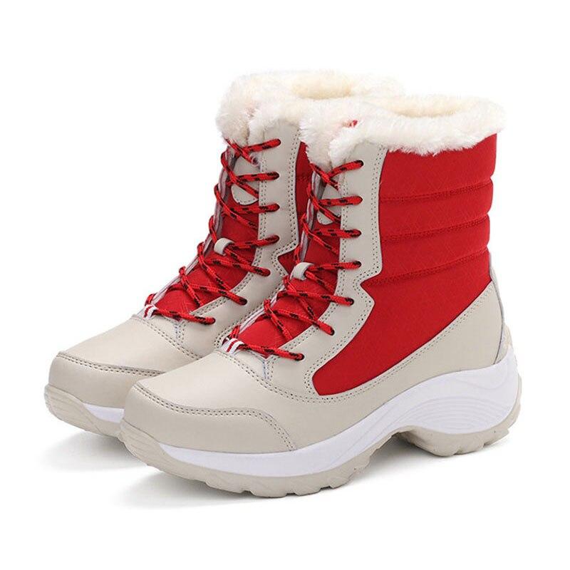 2018 Woman Shoes Winter Women Snow Boots Winter Women Keep warm Shoes Winter Female Mid-Calf Platform Boots Big Size memunia big size 35 44 snow boots for women keep warm platform shoes mid calf boots in winter rhinestone fashion boots