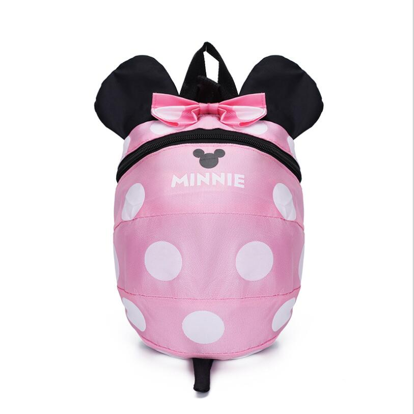 Cartoon Minnie Mickey Children Backpacks Kids kindergarten Anti-lost Backpack Baby School Bags Satchel for Boys and Girls 3