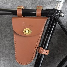 Kaile Classic Bike Bag Leather  Waterproof Retro Bicycle Frame Cycling Accessory 3 Color
