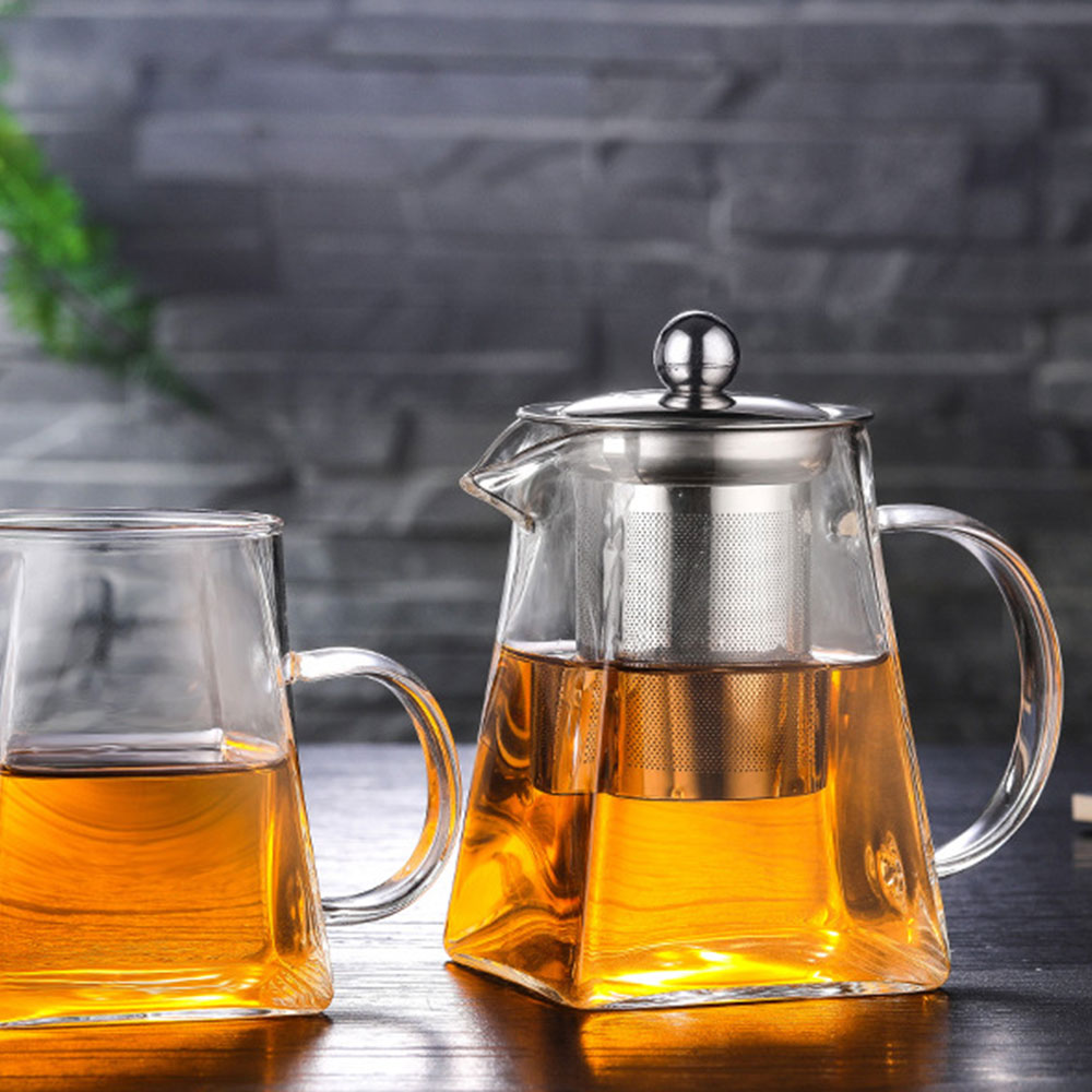 Стеклянный чайник домашний фруктовый сок чай посуда экономичный кофе вода напиток чайник жаростойкий Ресторан чайник с сетчатым фильтром чайная посуда