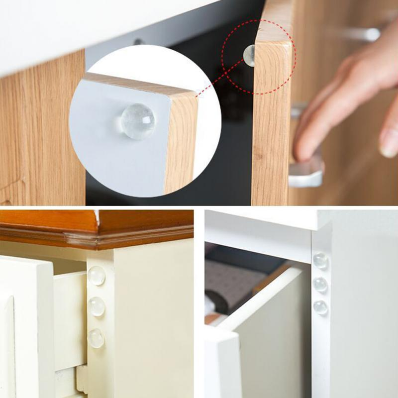 24PCS Rubber Muffling Anti-collision Colloidal Particles Kitchen Cabinet Door Drawers Transparent Anti-collision Bumper