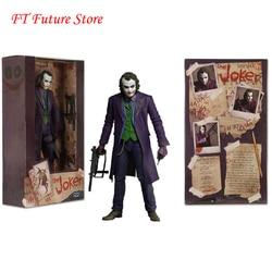 Для коллекции 7 ''NECA Бэтмен Темный рыцарь Джокер Хит Леджер ПВХ фигурка игрушки модель для детей подарок для мальчиков