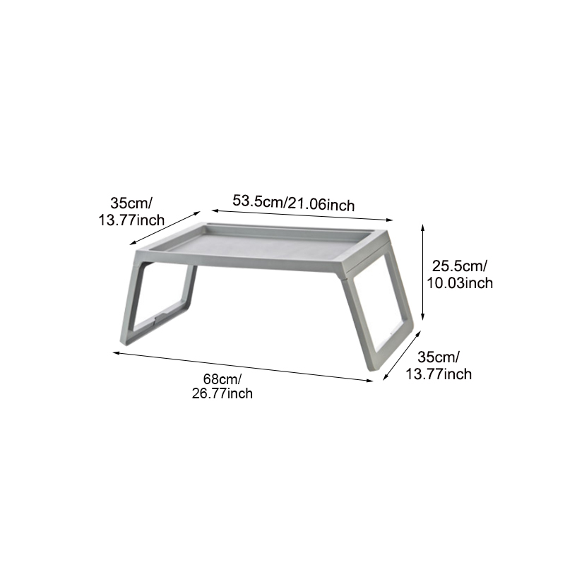 BAKINGCHEF Foldable Desk Bed Laptop Table Computer Holder Portable Breakfast Tea Serving Table Stand Home Office Study Supplies