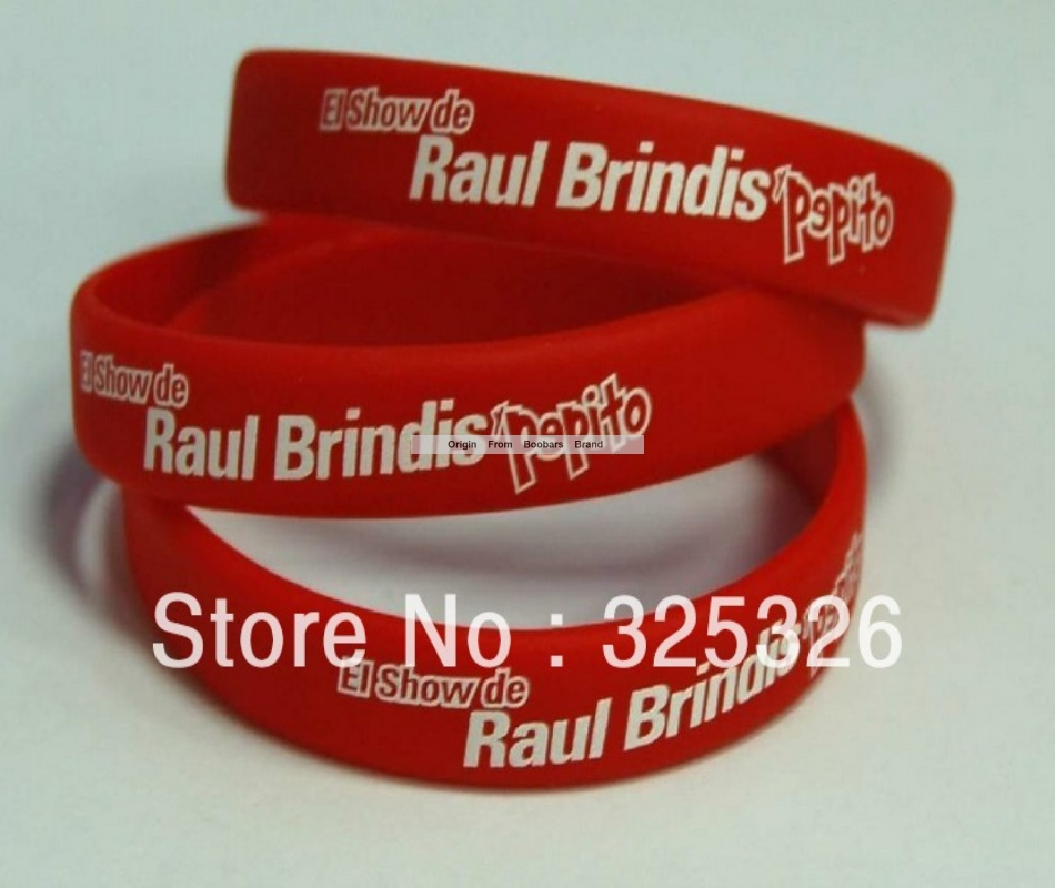 Hot Customized Business Logo Text Words Imprint White Silicone Wristband Make Your Own Rubber Band Bracelet 50pcs Lot In Bangles From Jewelry Accessories